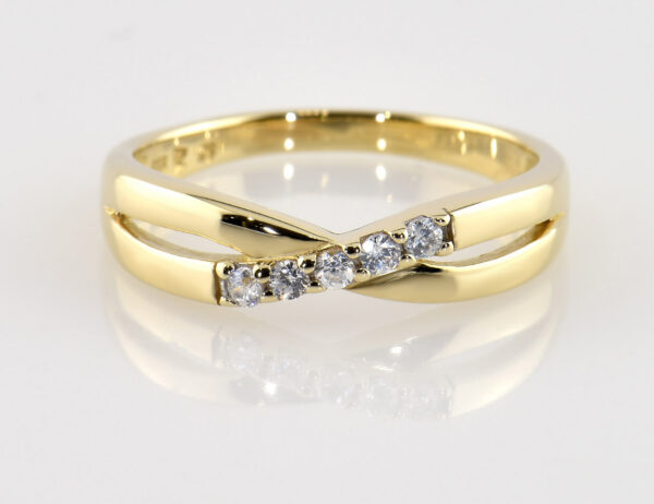 Ring 333/000 8 K Gelbgold Zirkonia