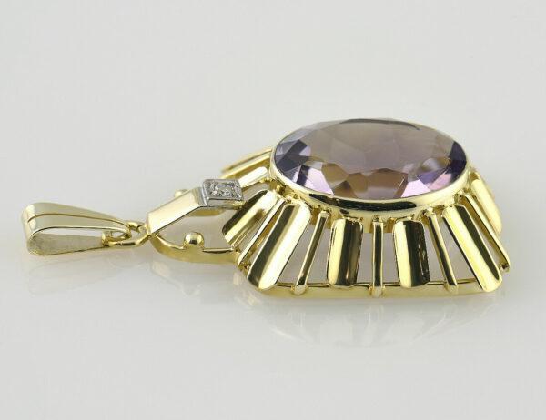 Anhänger Topas / Diamant 585 14 K Gelbgold