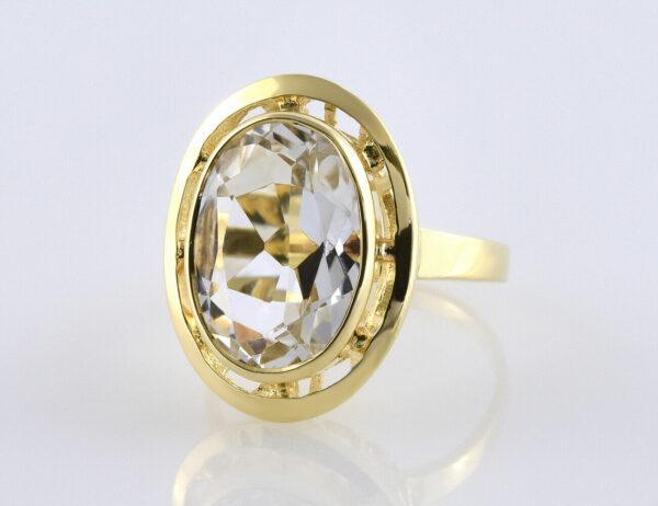 Aquamarin Ring 585/000 14 K Gelbgold