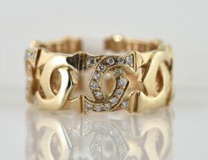 Cartier C Ring 750/000 18 K Gelbgold 64 Brillanten zus. 0,64 ct