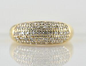 Diamant Ring 750/000 18 K Gelbgold 50 Diamanten zus. 0,50 ct
