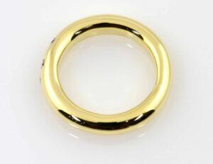 Diamantring 585/000 14 K Gelbgold 5 Brillanten zus. 0,10 ct