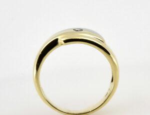 Diamantring 585/000 14 K Gelbgold Brillant 0,07 ct