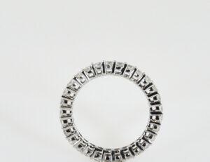Diamantring Memory 375/000 9 K Weißgold 29 Brillanten zus. 0,87 ct
