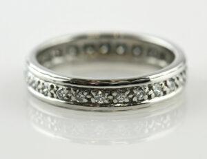 Diamantring Memory 750/000 18 K Weißgold 25 Brillanten zus. 0,75 ct