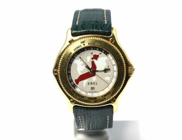 EBEL VOYAGER World Time 8124913 18 K Gold Herrenuhr