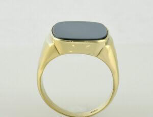 Lagenonyx Herrenring 585 14 K Gelbgold