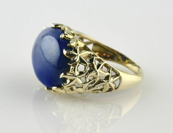 Lapis Lazuli Ring 375/000 9 K Gelbgold
