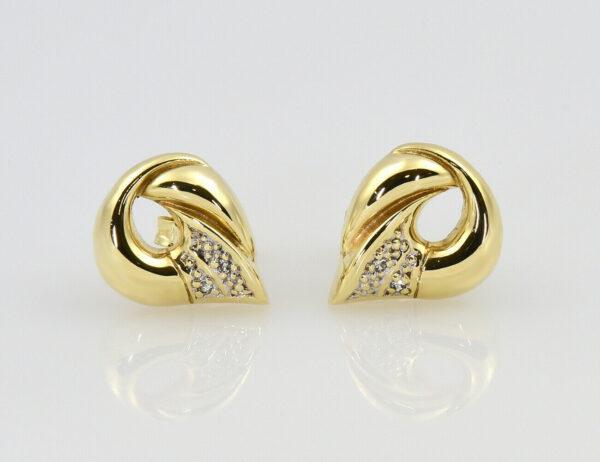 Ohrstecker 585/000 14 K Gelbgold 4 Diamanten zus. 0,02 ct