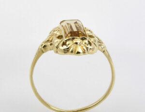 Ring Citrin 333/000 8 K Gelbgold