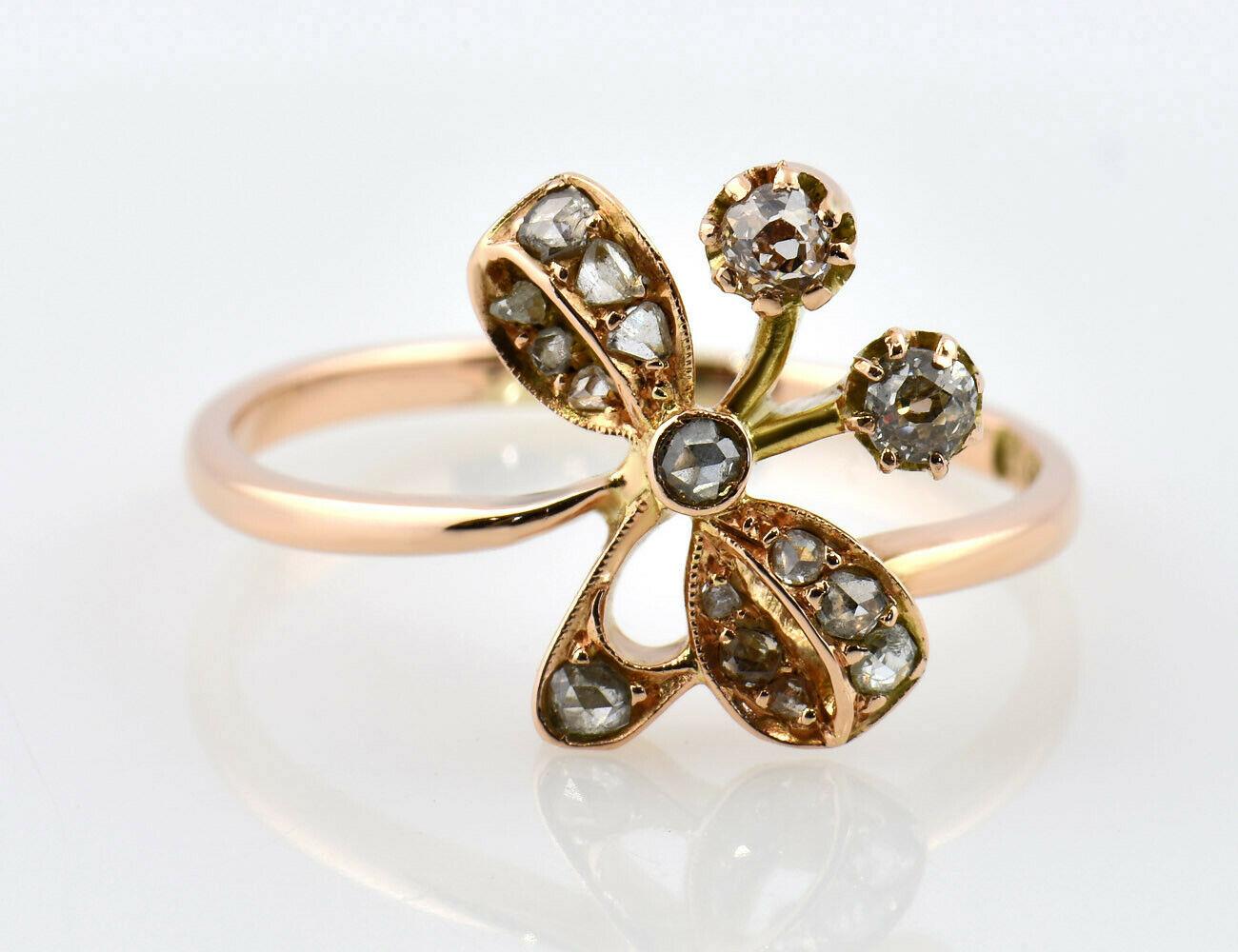 Ring Diamant 585/000 14 K Rotgold, 16 Diamanten zus. 0,27 ct