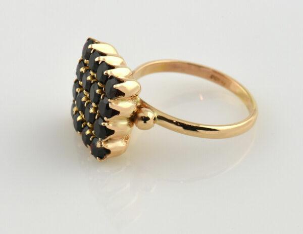 Ring Granat 750 18 K Gelbgold