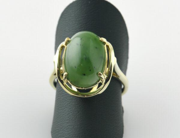 Ring Jade 585/000 14 K Gelbgold