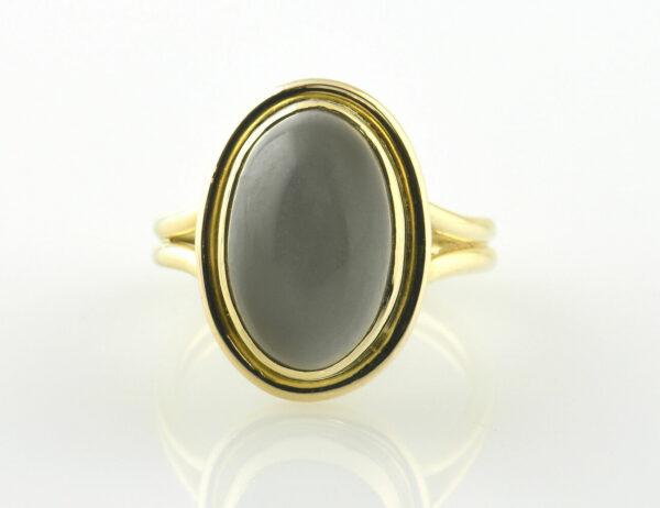 Ring Mondstein 750/000 18 K Gelbgold
