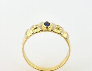 Saphir Ring 750/000 18 K Gelbgold Zirkonia
