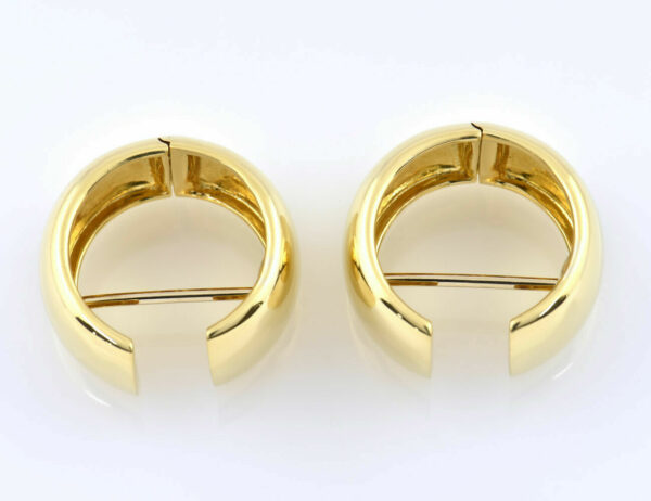 Scharniercreolen 750/000 18 K Gelbgold Ohrring
