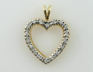 Anhänger-Diamant 585/000 14 K Gelbgold 18 Brillanten zus. 0,25 ct