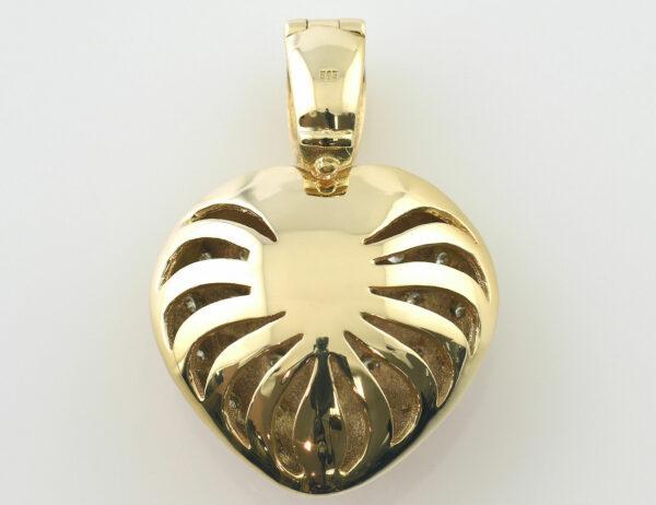 Anhänger Diamant 585/000 14 K Gelbgold 27 Brillanten zus. 0,35 ct