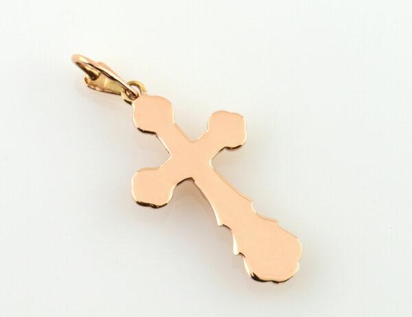 Anhänger Kreuz 583/000 14 K Rotgold