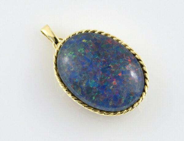 Anhänger Opal Dublette 585/000 14 K Gelbgold