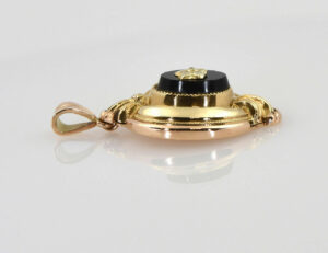 Antiker Anhänger 585/000 14 K Gelbgold Onyx