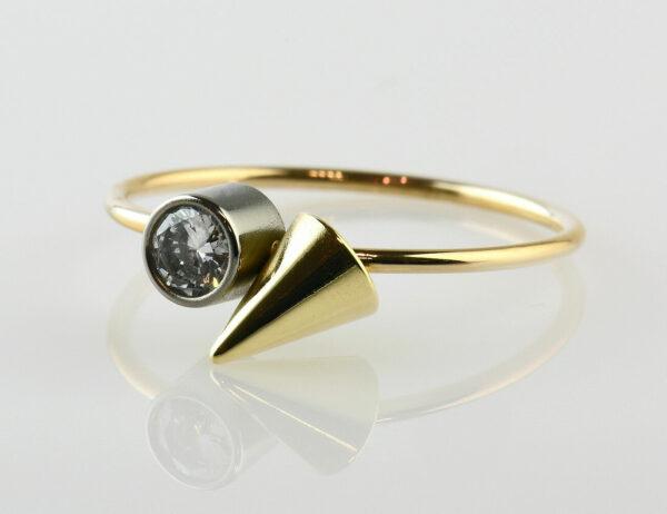 Diamant Solitär Ring 750/000 18 K Weiß-/Gelbgold Brillant 0,20 ct