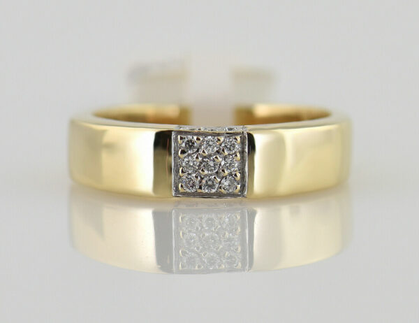Diamantring 585/000 14 K Gelbgold 9 Brillanten zus. 0,12 ct