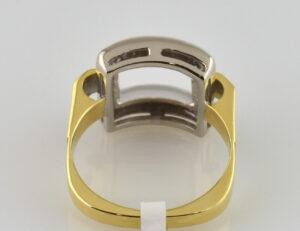 Diamantring 750 18 K Gelbgold 10 Diamanten zus. 0,07ct