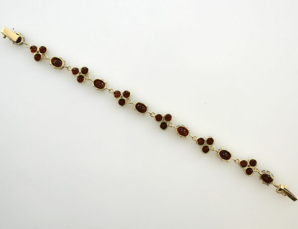 Granat Armband 18 cm 333/000 8 K Gelbgold