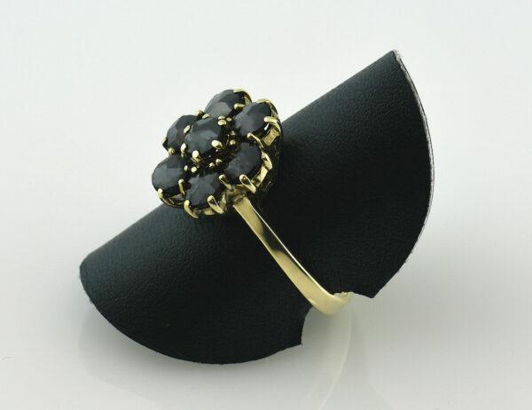 Granat Ring 585/000 14 K Gelbgold