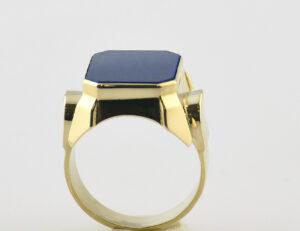 Lapis Herrenring 585/000 14 K Gelbgold