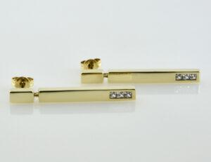 Ohrhänger 333/000 8 K Gelbgold, Zirkonia