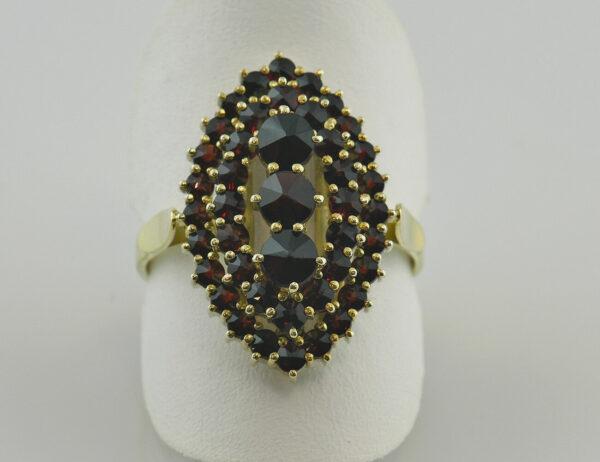 Ring Granat 585/000 14 K Gelbgold