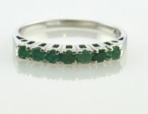 Ring Smaragd 585/000 14 K Weißgold