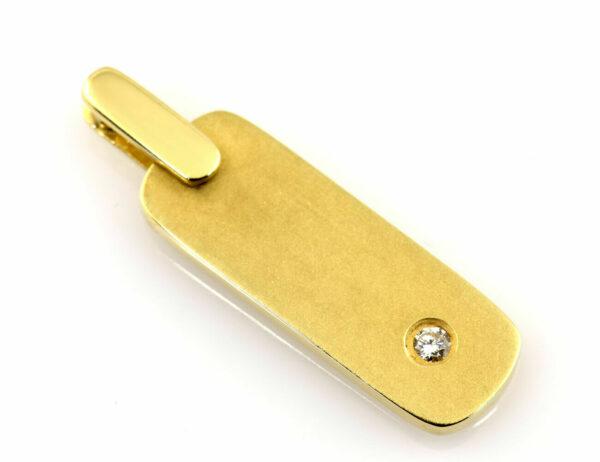 Anhänger 585/000 14 K Gelbgold Brillant 0,04 ct