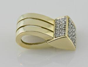 Anhänger-Diamant 585/000 14 K Gelbgold 25 Brillanten zus. 0,25 ct