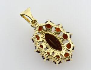 Anhänger Granat 333/000 8 K Gelbgold