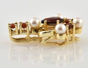 Anhänger Granat Perle 585/000 14 K Gelbgold