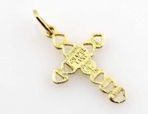 Anhänger Kreuz 585/000 14 K Gelbgold