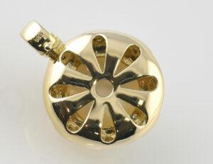 Anhänger Mabe´perle 585/000 14 K Gelbgold 8 Diamanten zus. 0,10 ct
