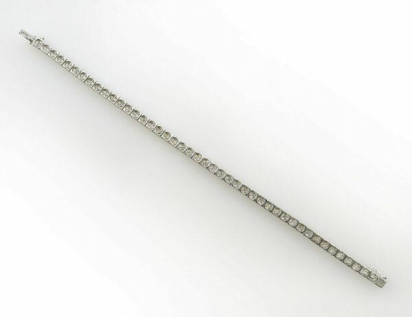 Armband 18 cm 585/000 14 K Weißgold 45 Diamanten zus. 0,75 ct
