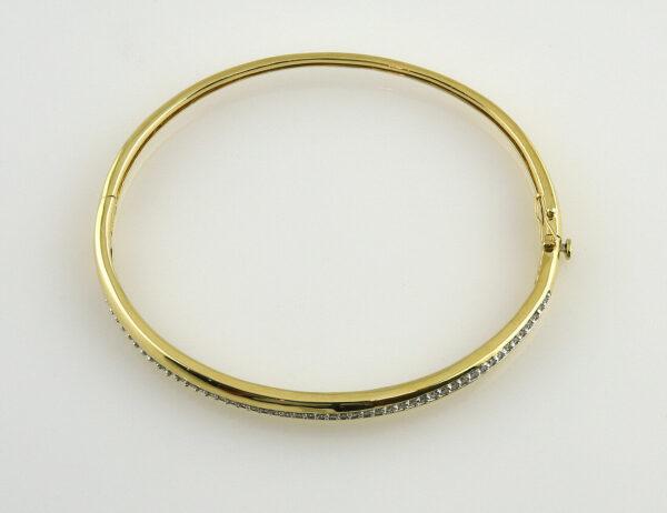 Armreif 585/000 14 K Gelbgold 50 Diamanten zus. 0,50 ct