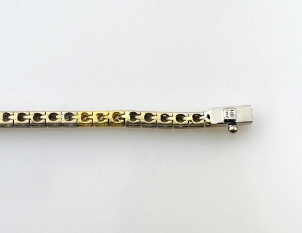 Collier 585/000 14 K Weiß-/Gelbgold 21 Brillanten zus. 0,45 ct, 45 cm lang