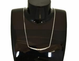 Collier 585/000 14 K Weißgold 1 Diamant 0,14 ct, 43 cm lang