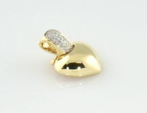 Diamant Anhänger 333/000 8 K Gelbgold 2 Diamanten zus. 0,02ct