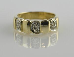 Diamant Ring 585/000 14 K Gelbgold 12 Diamanten zus. 0,08 ct