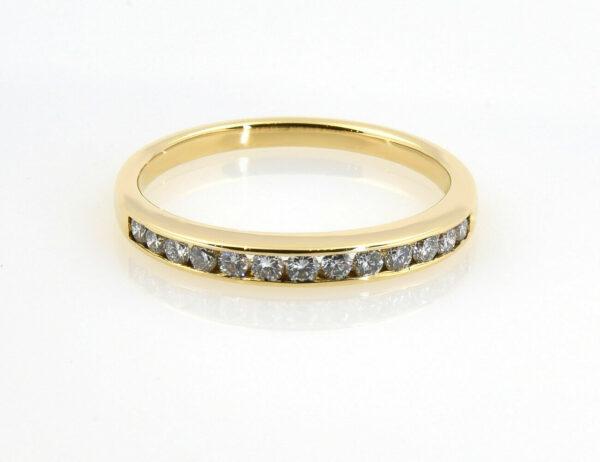 Diamant Ring 750/000 18 K Gelbgold 13 Brillanten zus. 0,25 ct
