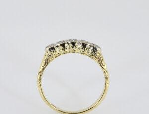 Diamantring 585/000 14 K Gelbgold 4 Diamanten zus. 0,10 ct