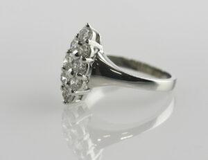 Diamantring 585/000 14 K Weißgold 8 Brillanten zus. 0,76 ct