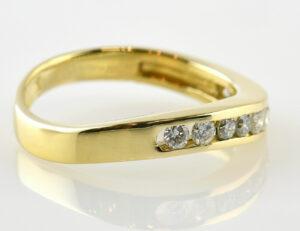 Diamantring Memory 750/000 18 K Gelbgold 10 Brillanten zus. 0,30 ct